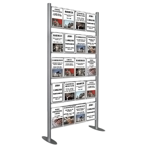 Upright display ladder with 20x A4P pockets