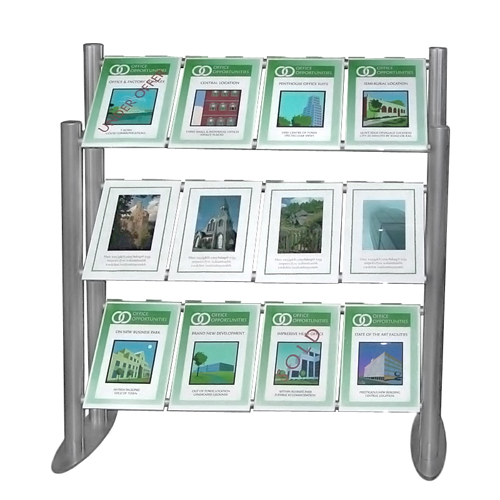Lay back ladder display for estate agents