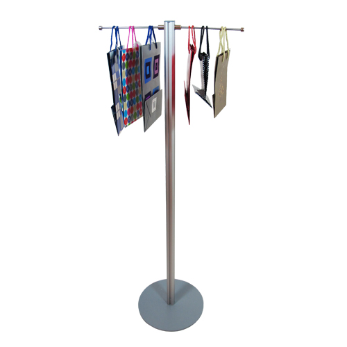 Carrier bag stand with 2 hangers: 1.2m