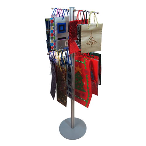 Carrier bag stand with 4 hangers: 1.2m