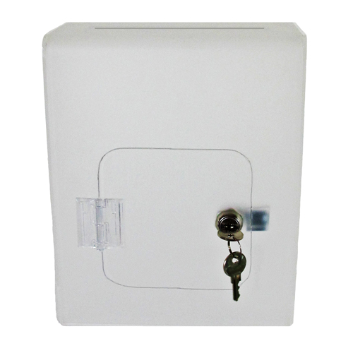 Wall mount lockable acrylic suggestion box - single colour