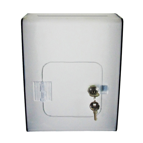 Wall mount lockable acrylic suggestion box - two-colour