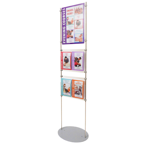 8E4 Brochure holders on 1.5m 'lite' exhibition stands