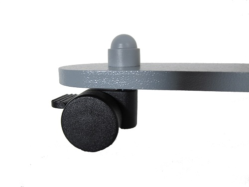 Base plate with castors