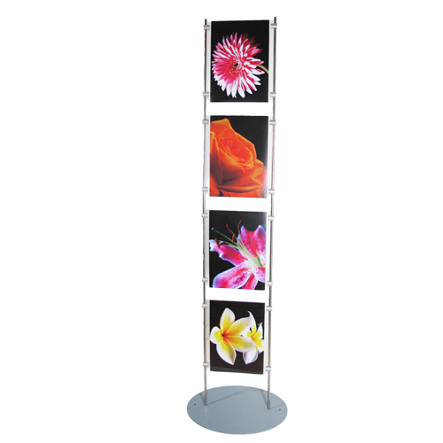Lite poster stand with 4x A4P