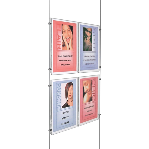 Suspended poster display 2x 2A4P