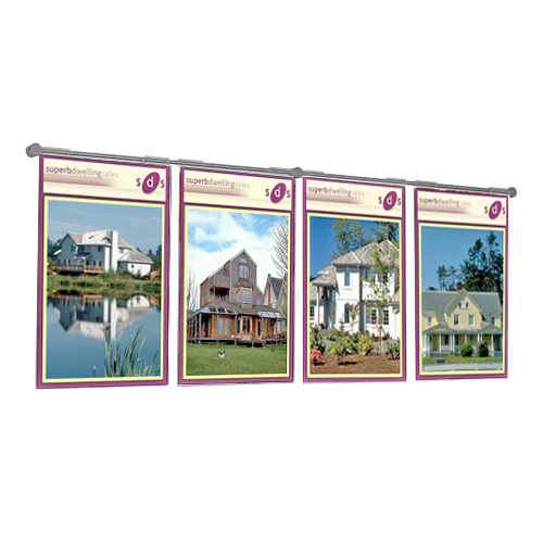 Hook-on x4 A4P poster holders