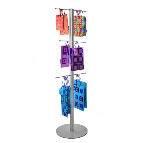 KEF01B Bag stand - 1500mm post with 6x 200mm hangers