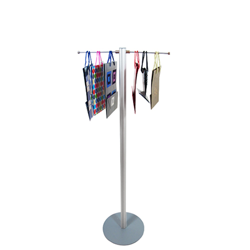 VF2B Lite carrier bag stand -  1200mm with 2 hangers