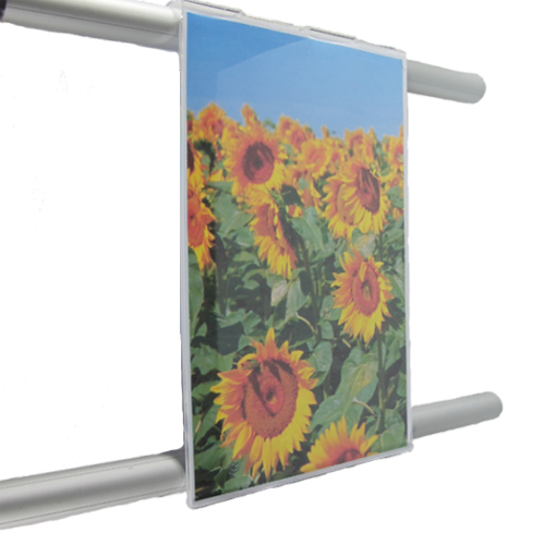 422 - Hook-over poster holders for 25mm bars (HG25..)