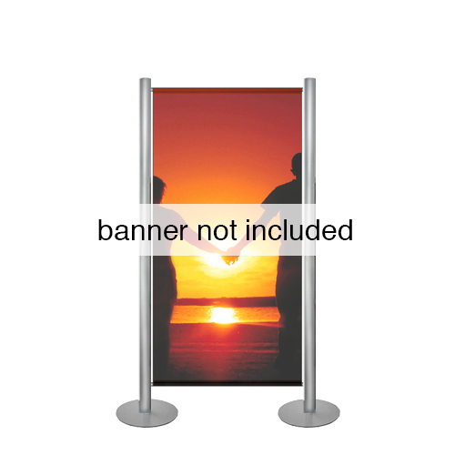 872 Aluminium stands to support banners