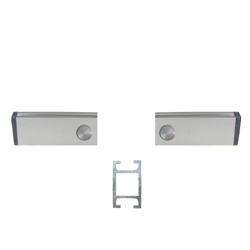 752 - Wall fix aluminium double channel