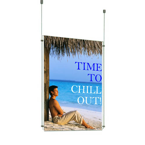 Suspended Single Poster Displays