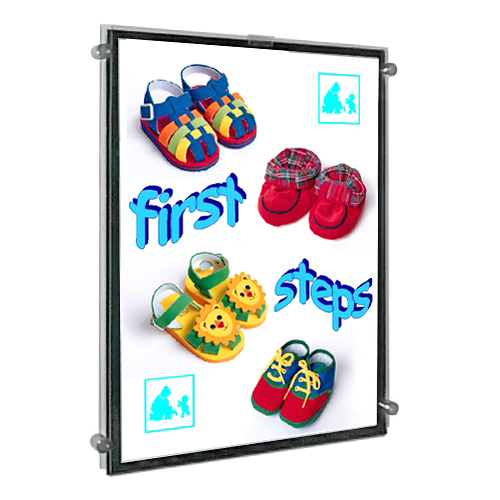 Clamp-on Poster Displays for Walls